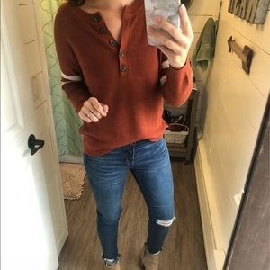 Mustard aeo sweater